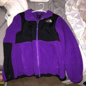 Purple North Face zip up Jacket